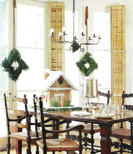 image result for Pamela Pierce Pam dining room Christmas French farmhouse