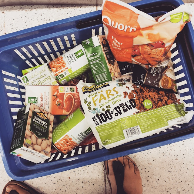 Border shopping in Sweden: Meat replacements and organic food products