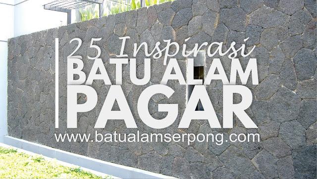 25 inspirasi batu alam dinding pagar