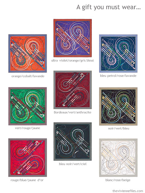 Which color will you choose in an Hermes scarf?