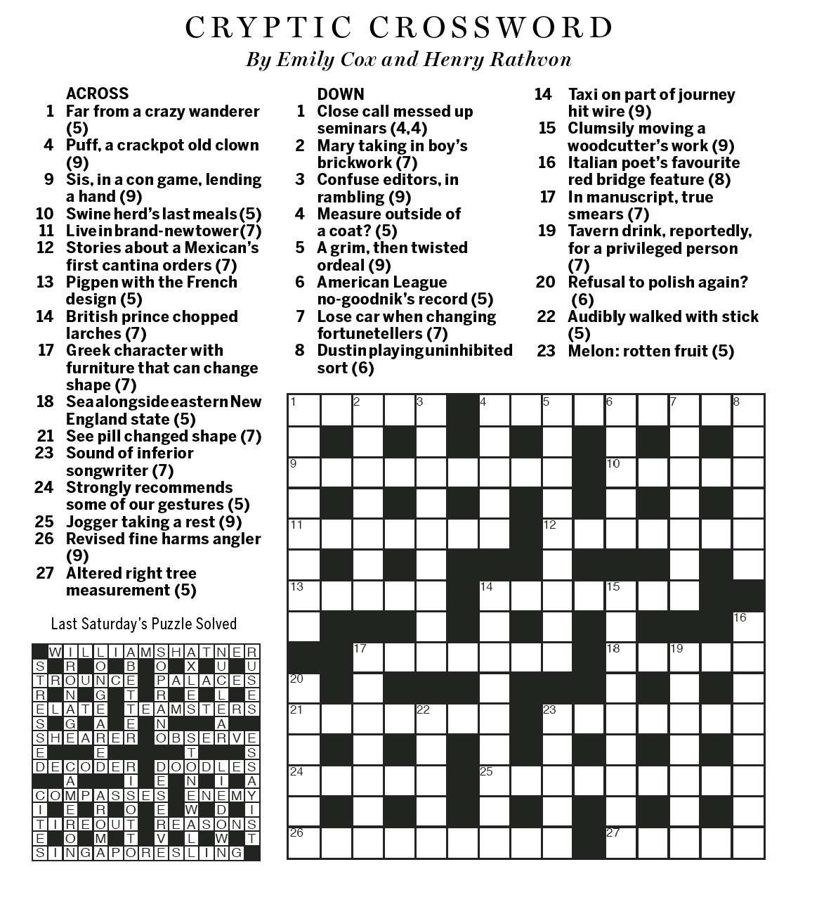 National Post Cryptic Crossword Forum Saturday July 16 2016 Huff And Puff
