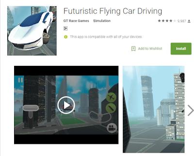 یاری زۆر خۆش بۆ ئهندرۆید Futuristic Flying Car Driving