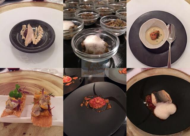 platos del menú de sant celoni para showcooking de carrefour3
