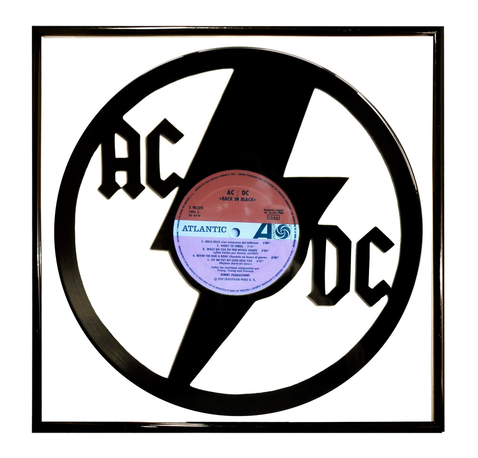 graphic regarding Printable Vinyl Record Labels identified as Competition Exchange on-line heritage retail outlet: AC/DC Black Black Artwork