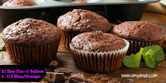 becoming your personal best, 21 day fix chocolate peppermint muffins