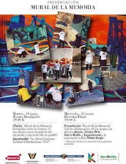 Invitación a la inauguración del Mural de la Memoria