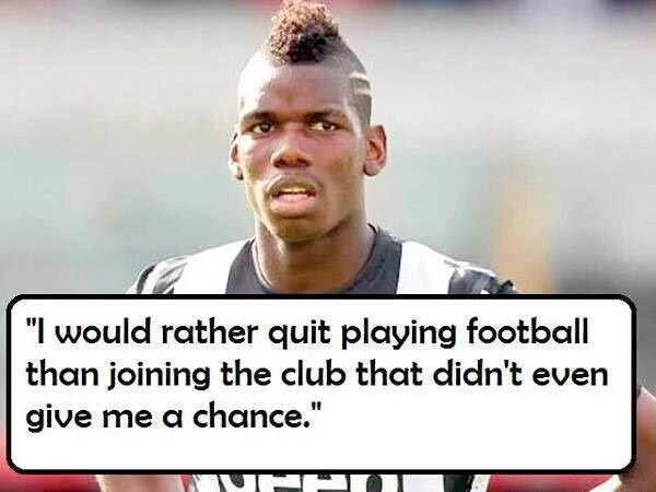 #Pogback: Throwback to when Pogba said he'd rather be a fuel attendant than play for Man Utd