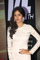Chandini Chowdary in white Tight dress at Shamanthakamani pre release function ~  Exclusive 050.JPG