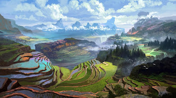 Nature, Rice, Terraces, Mountain, Landscape, Digital Art, 4K, #6.1247