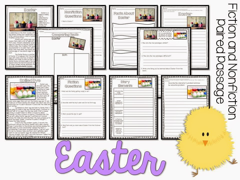April Fiction and Nonfiction Paired Texts- all about Easter