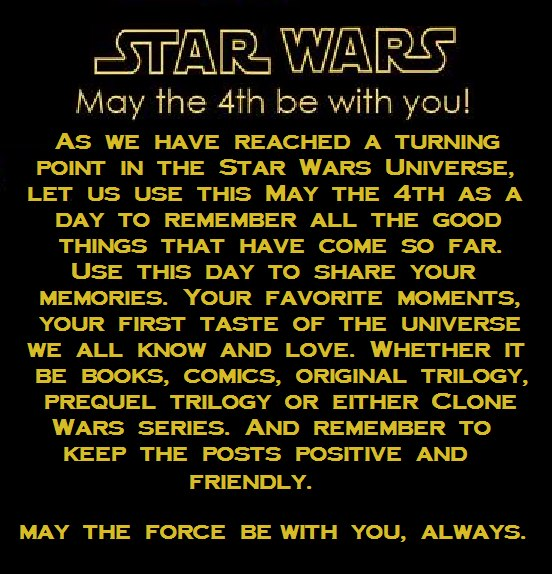 Pens, Thespians, And Words: Happy Star Wars Day And May