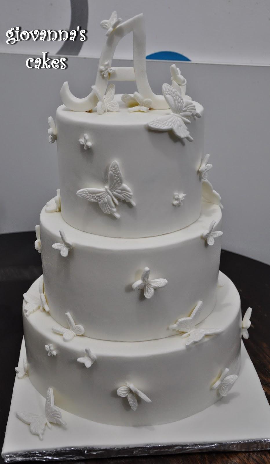 Giovanna S Cakes Pure White Christening Cake