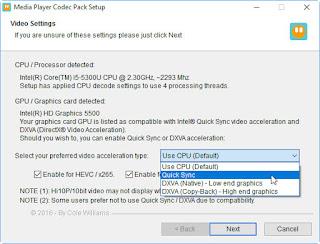 عملاق تشغيل ملفات الفيديو Media Player Codec Pack 2017