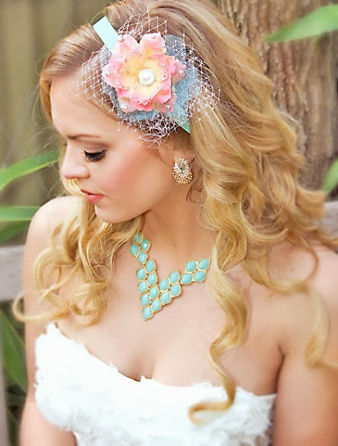 Perle Jewellery and Makeup: Bridal Style Feature: Colourful Accessories