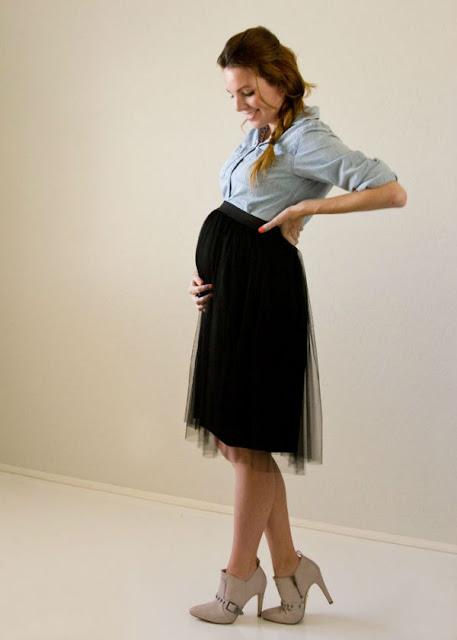 tulle skirt embarazada negra