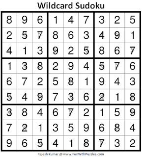 Answer of Wildcard Sudoku Puzzle (Daily Sudoku League #221)