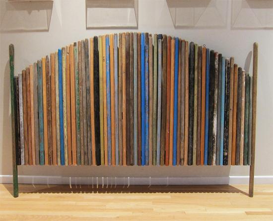 cabeceira colorida, broom recycle, broom upcycle, a casa eh sua, acasaehsua, faça você mesmo, diy, reciclagem, cabo de vassoura, cabo de vassoura reciclado