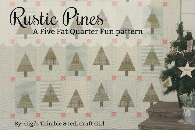 Gigi S Thimble Five Fat Quarter Fun Rustic Pines