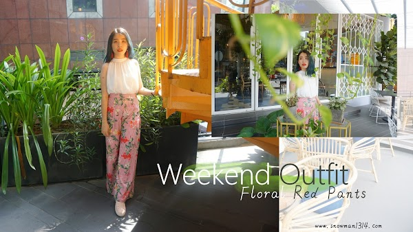 Floral Red Pants Weekend Outfit #75