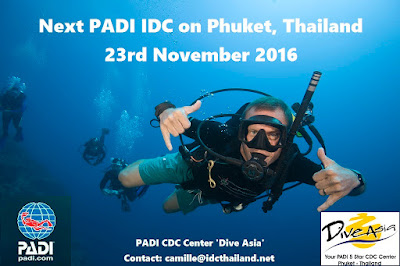 Next PADI IDC on Phuket, Thailand starts 23rd November