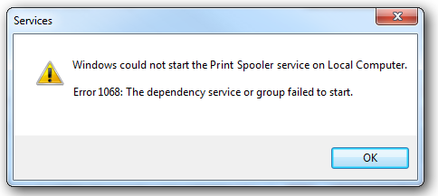 print spooler error di windows 7