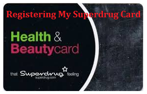 registering my superdrug card