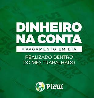 Salários em Dia: Prefeitura de Picuí paga funcionalismo nesta terça (29)
