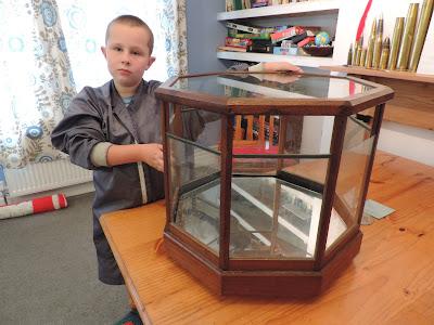 wood glass display case