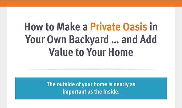 How to Make a Private Oasis in Your Own Backyard