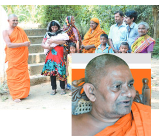 Gomagoda Thero who sheltered at his temple ... Muslim families who had come running