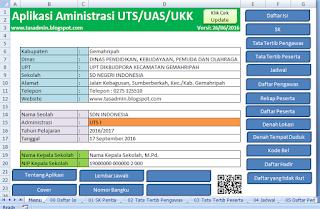 aplikasi administrasi format excel uts uas ukk