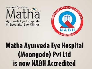 NABH Accredited - Matha Ayurveda Eye Hospital
