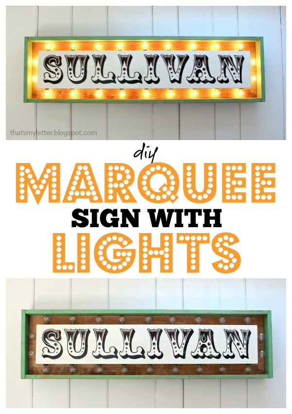 how to make a marquee sign with lights