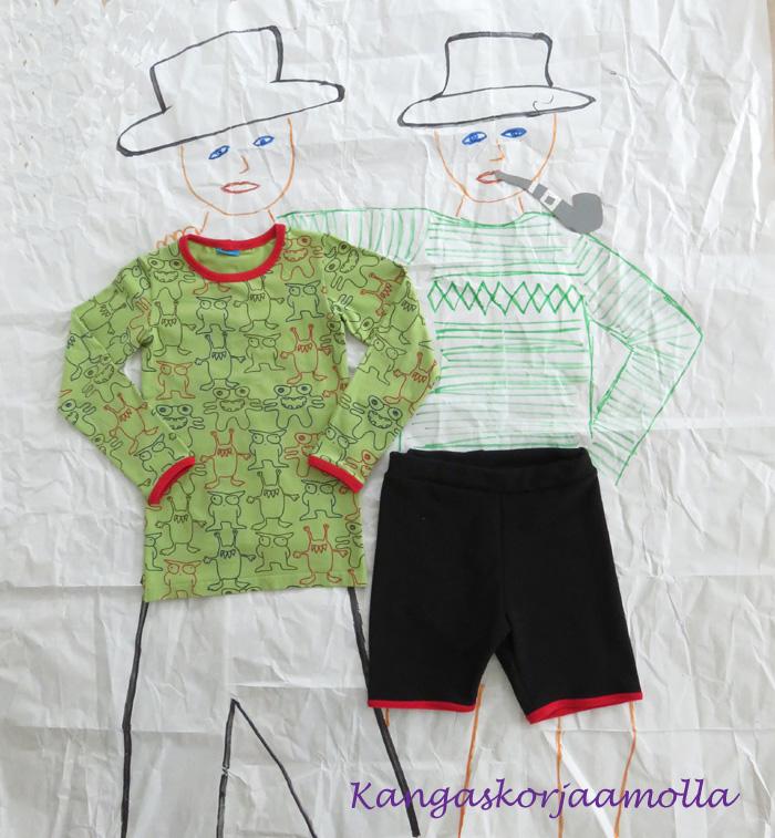 paita ja shortsit