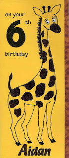 Boys and girls would love this giraffe birthday card