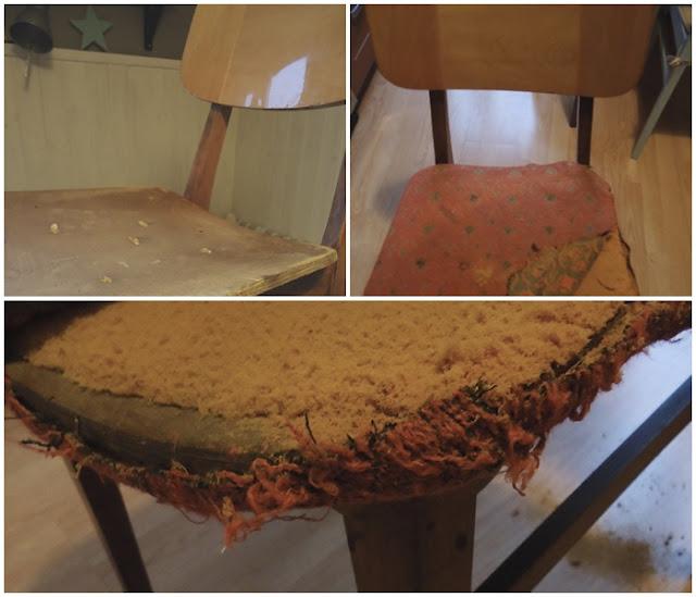 krzesło vintage, mebel PRL