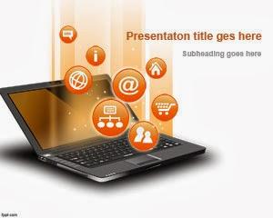 Gambar Desain Komputer dan Ikon Teknologi Slide PPT