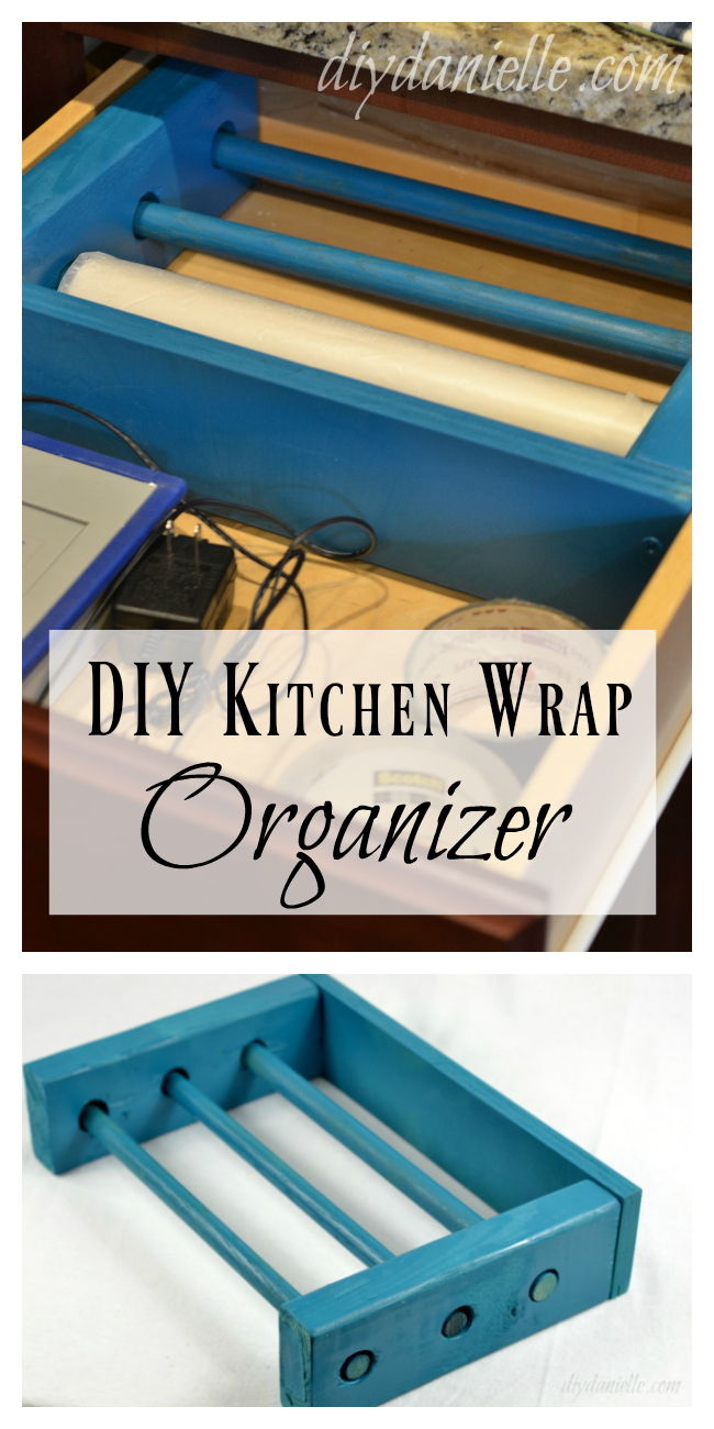 DIY Kitchen Wrap Organizer for a Drawer