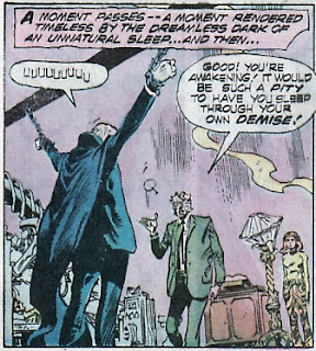 Phantom Stranger #35, captive but eloquent as ever
