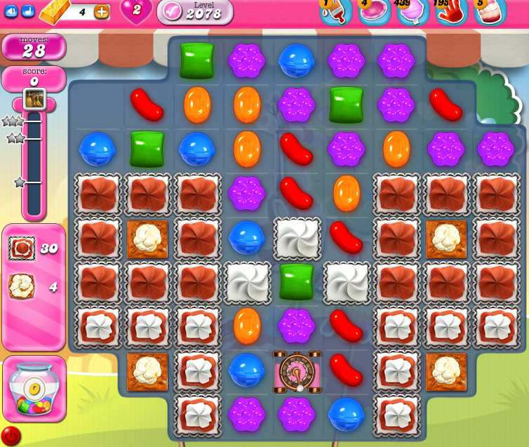 Candy Crush Saga level 2078