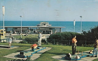 Boscombe Crazy Golf postcard. JH 40 Plastichrome by Colourpicture. Pub. by J. Hammersley, Boscombe, Bournemouth