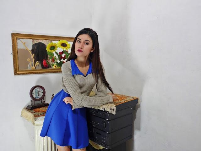 look saia azul