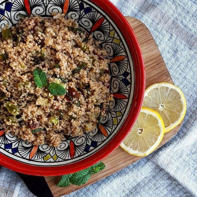 Taboulé au citron menthe concombre et tomate charlotte and cooking