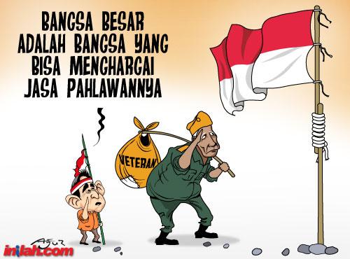 kartun pahlawan nasional hormat bendera merah putih - munsypedia.blogspot.com