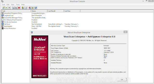 McAfee VirusScan Enterprise 8.8 Patch 6