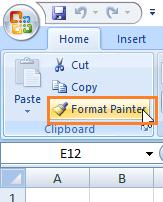 Format Painter Excel 2007