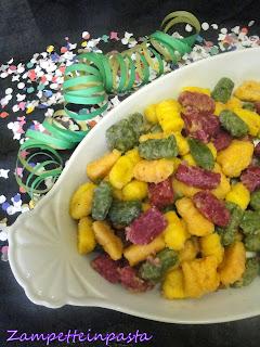 Gnocchi colorati alle verdure - Ricette di Carnevale