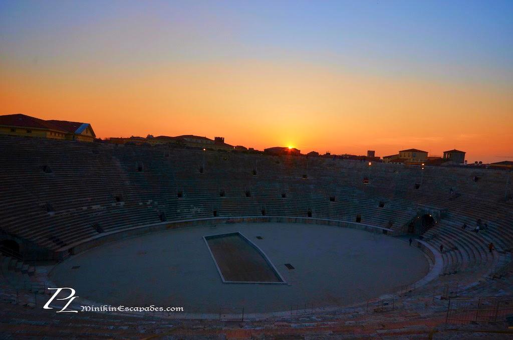 Sunset at Verona's arena