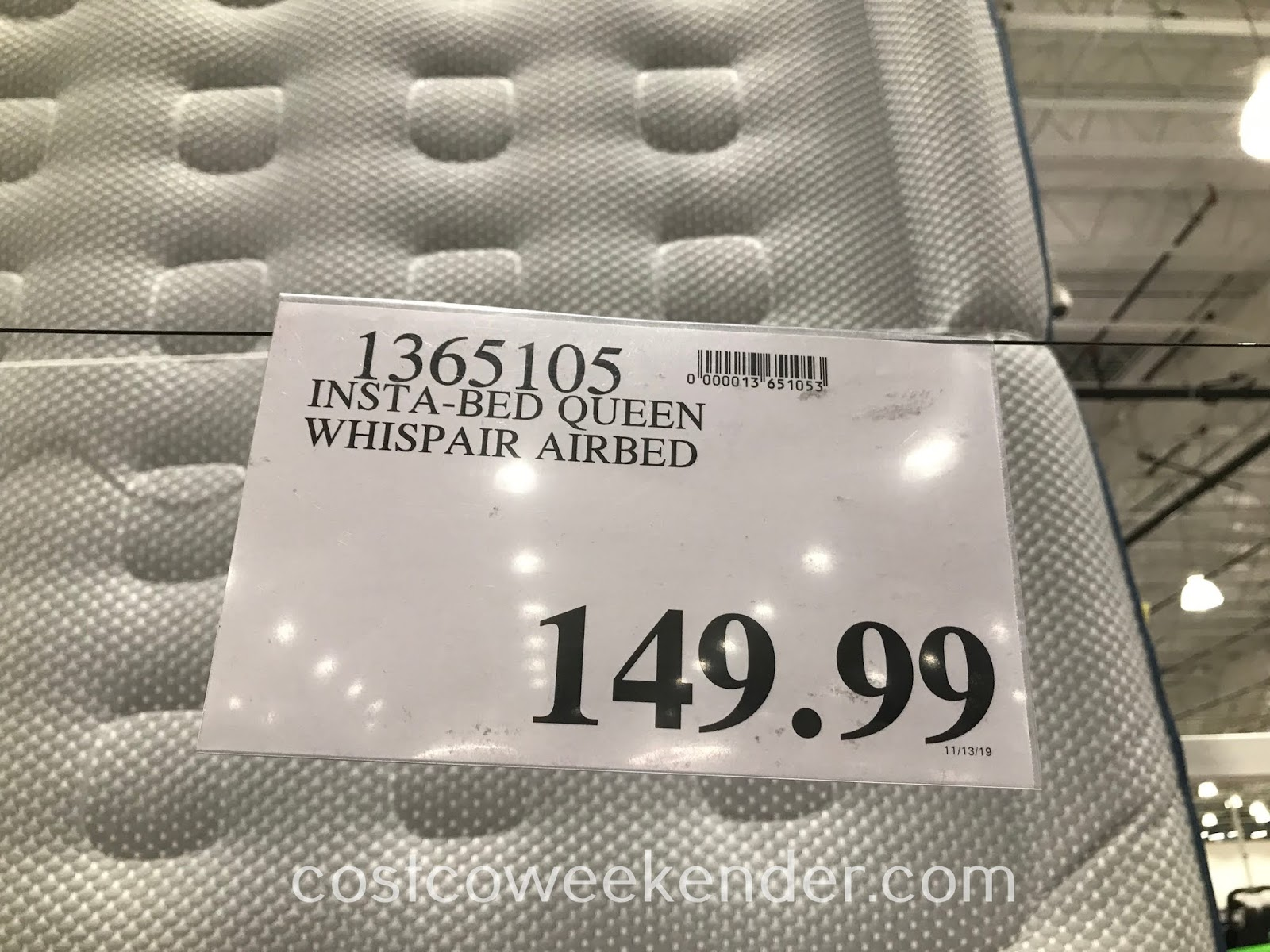 Costco 1365105 - Deal for the Insta-Bed Queen Whispair Airbed at Costco