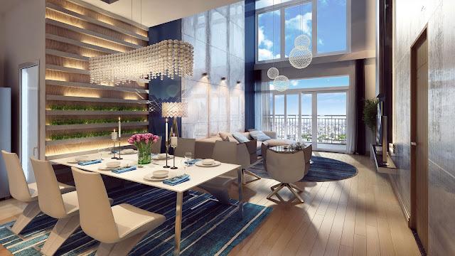 Phòng khách chung cư Movenpick Han River